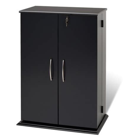 Translate Cupboard 33 3 Quot 22 Shelf Media Storage Cabinet Black Bookcases