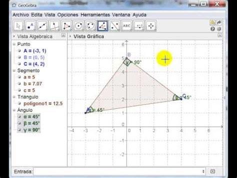 geogebra para resolver/comprobar ejercicios de geometría
