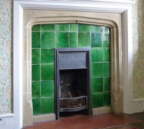 garrard plain glazed tiles in a fireplace in mount grace
