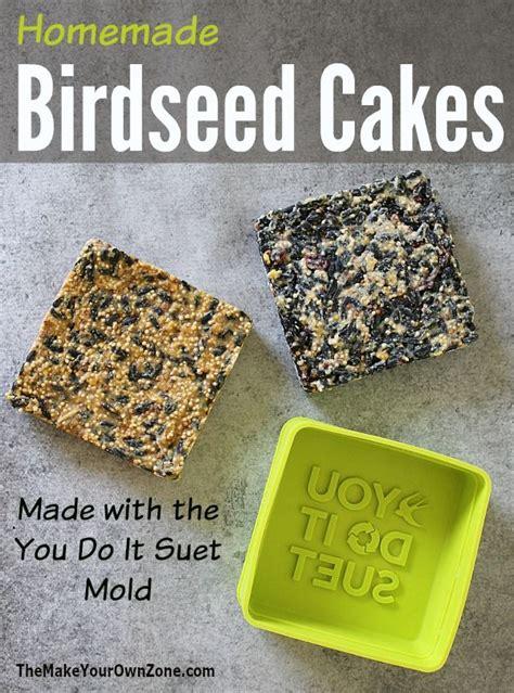 homemade birdseed cakes with you do it suet bird feeder