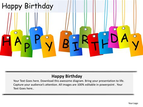 happy birthday templates happy birthday celebrations cake candles powerpoint