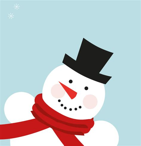cute snowman christmas  vector graphics
