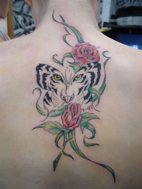 butterfly tiger tattoo tiger by markfellows on deviantart