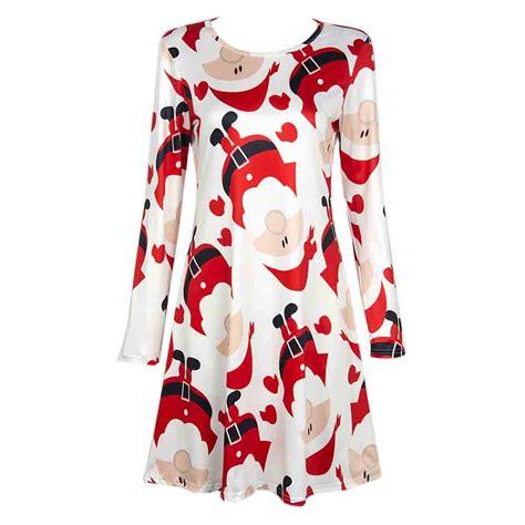 long sleeve autumn dress 2016 girls cartoon print santa