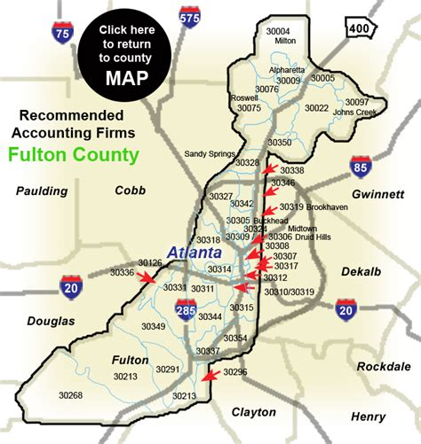 map of fulton county pin county map hart on