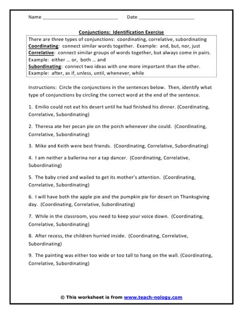 Fanboys Worksheet by Fanboys Conjunctions Worksheet Free Worksheets Library