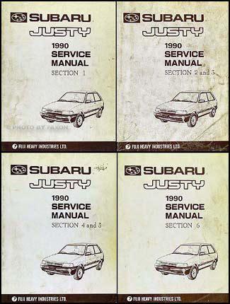 best car repair manuals 1990 subaru justy electronic toll collection 1990 subaru justy repair shop manual original set