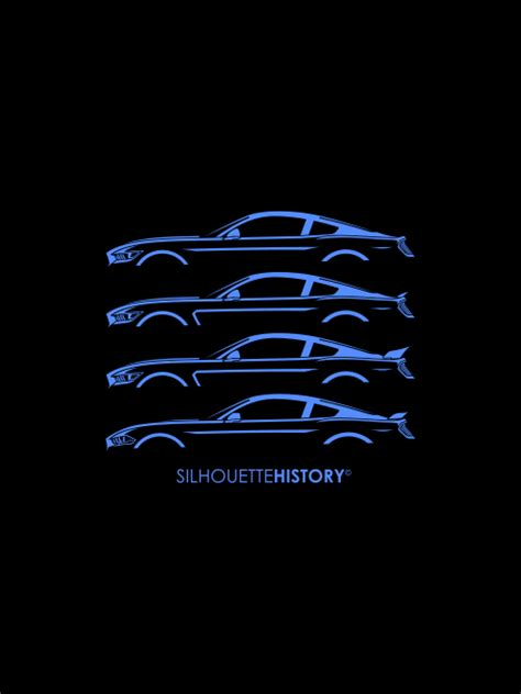 mustang silhouette silhouettehistory