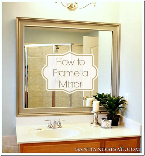how to add a frame to a bathroom mirror how to frame a mirror sand and sisal