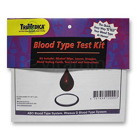 typography test trimedica blood type test kit 1 single use test kit evitamins
