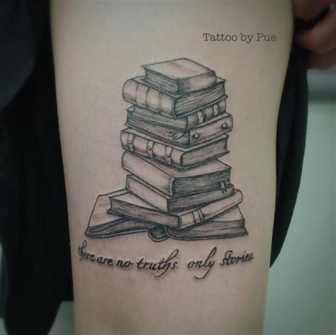 stack of books tattoo 40 amazing book tattoos for literary tattooblend