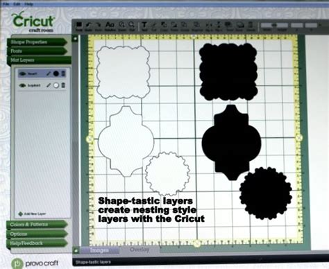 cricut craft room tutorials how to create nested style shapes with the cricut cricut ii crafts shape and