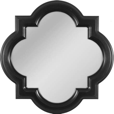 mirror shapes shop allen roth 30 in x 30 in black shapes framed wall