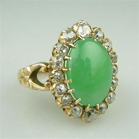 antique gold jade ring pictures photos and