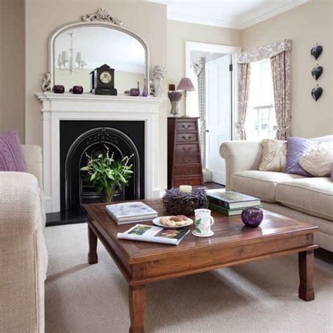 Neutral Living Room With Fireplace Fireplaces Lounge Ideas And Family Homes On