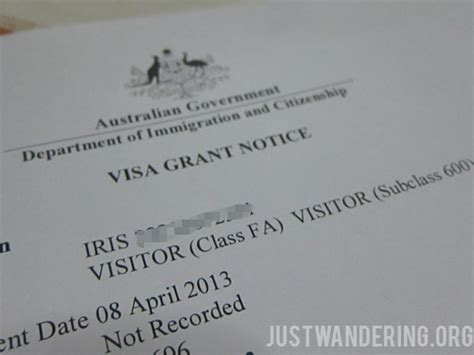 National Australia Bank Letter Of Credit How To Apply For An Australian Tourist Visa A Guide For Passport Holders Just Wandering