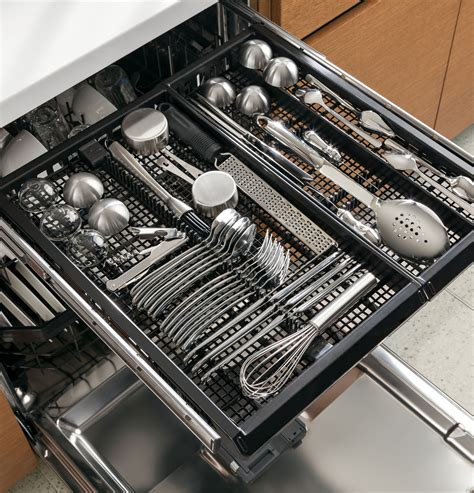 Cutlery Drawer Dishwasher by Ge Pdt760sifii Fully Integrated Dishwasher With 16 Place Settings 7 Wash Cycles 11 Options