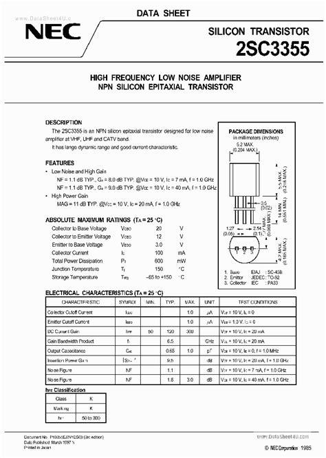 a671 transistor datasheet pdf c3355 71854 pdf datasheet ic on line