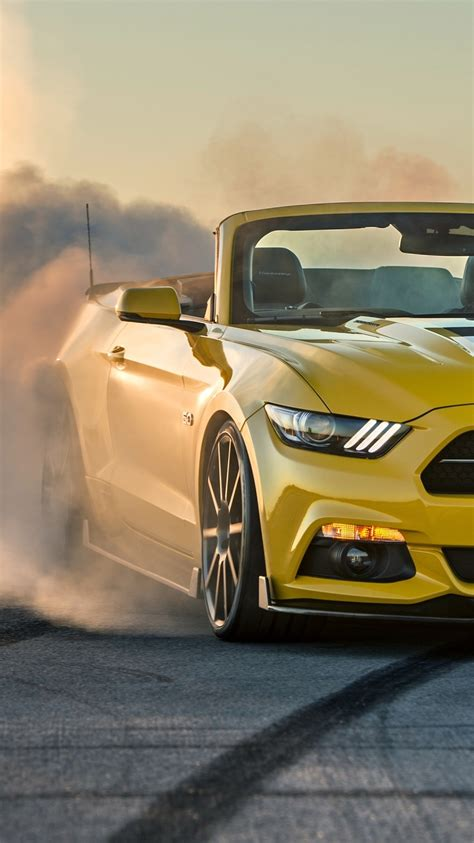 ford mustang gt convertible burnout iphone wallpaper iphone wallpapers