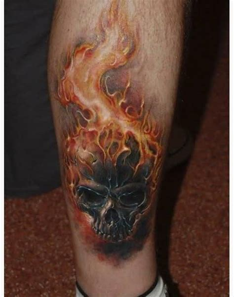 skull with flames tattoo designs 58 tattoos