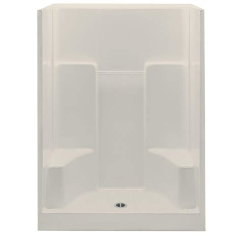 One Shower Stall With Seat by Aquatic Everyday 60 In X 35 In X 72 In Center Drain 2