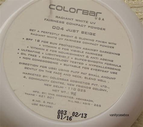 Caring Colours Colour Color Uv White Powder colorbar radiant white uv fairness compact powder review