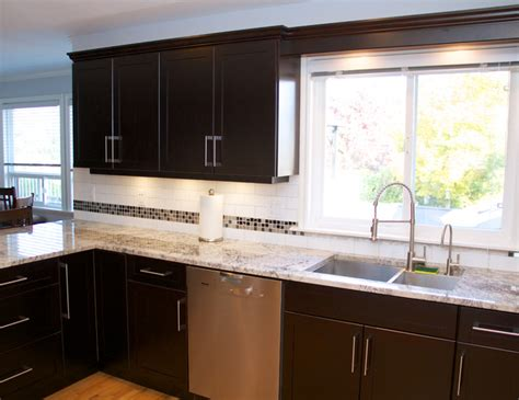 Veneer Kitchen Cabinet Refacing Cabinet Refacing Done In Cherry Veneer Contemporary Kitchen Vancouver By Kitchen Solvers
