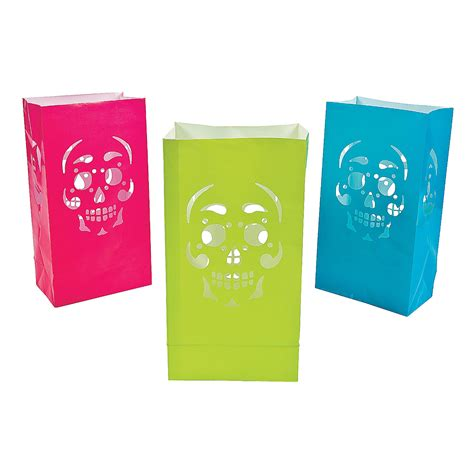 day of the dead luminary bags oriental trading