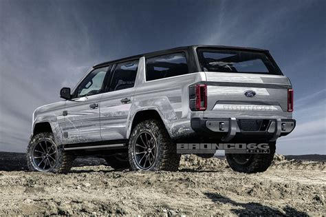 ford bronco new ford bronco to be 4 door only renderings show