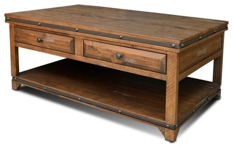rustic wood coffee table with drawers reclaimed wood 2 drawer coffee table rustic coffee and