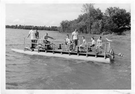 float boat origin history of the pontoon pontoon deck boat magazine
