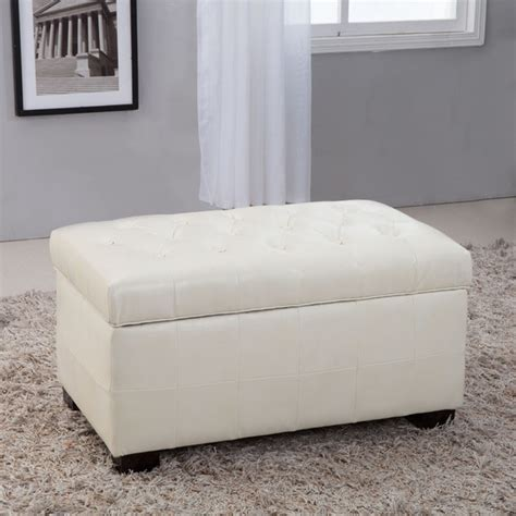 white tufted storage bench royal comfort collection traditional creamy white tufted