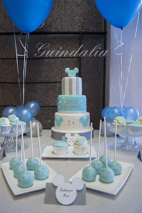 centro de mesa decoracion baby shower bautizo cumplea 241 os bs 10 500 00 en mercado libre mesa dulce con detalles de mickey en tonos azul y plata bautismo mesas sweet