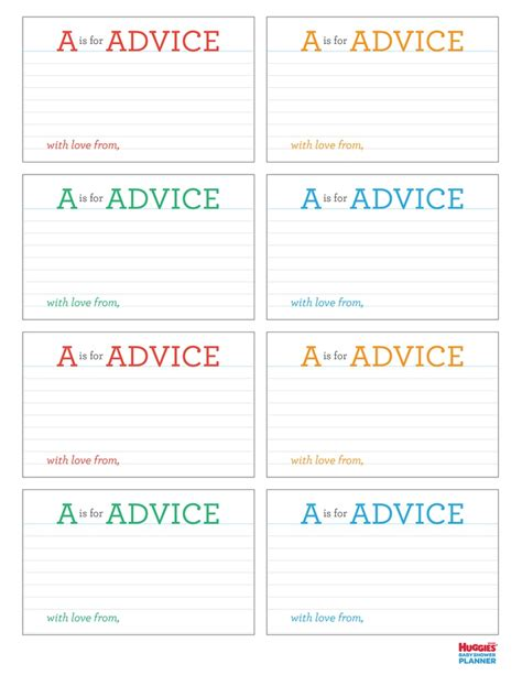 free baby advice cards template entertaining pinterest 17 best images about shower advice for mommy on