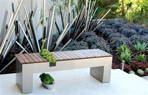 fresh with a touch of cozy the garden bench