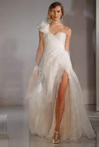 wedding dresses with slits up the leg wedding dress trend high slits wedding dresses brides