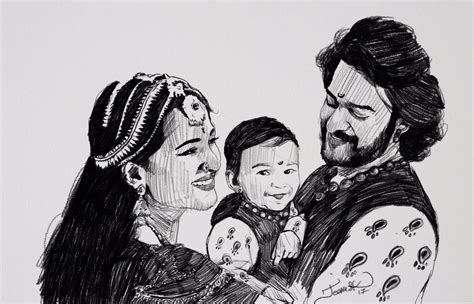Bahubali 2 Sketches by Sk Jeeva On Quot Today S Sketch Bahubali 2 The