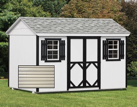 Vinyl Siding Sheds by Vinyl Siding Gable Style Sheds Sheds By Siding