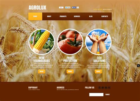 theme wordpress agriculture free free agriculture website templates themes free
