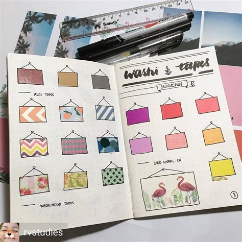 ways to design your journal washi tape in the bullet journal what a cool way to keep