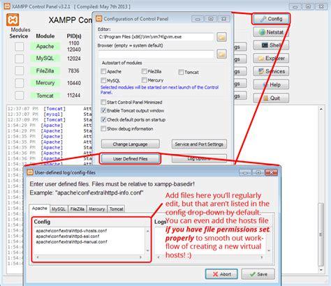 virtual host configuration  xampp edge webware