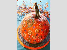 Easy Painted Pumpkins   Midwest Living Pumpkin Pattern Free