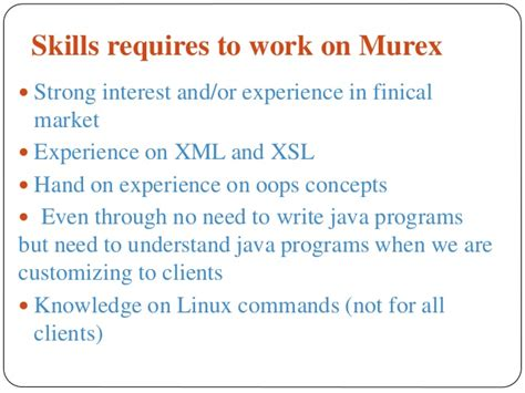 xml tutorial for experienced murex training murex online video tutorial