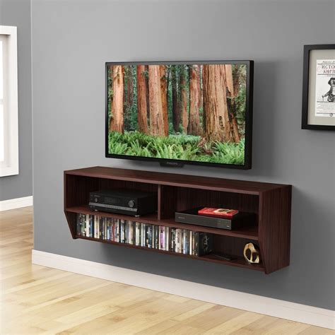 entertainment center with shelves 48inch wall mount media entertainment console center desk