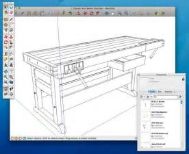 woodworking bench plans sketchup
