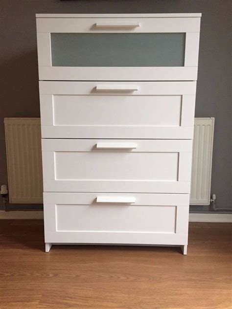 furniture brimnes 4 drawer dresser white in