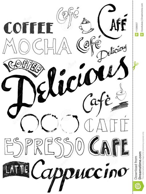 Coffee Doodle Royalty Free Stock Photography   Image: 11588007