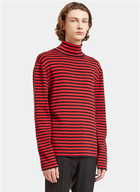 And Black Sweater gucci s striped roll neck knit sweater in and