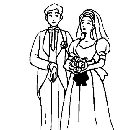 Colored Page The Bride And Groom Iii Painted By Daisy And Groom Coloring Page
