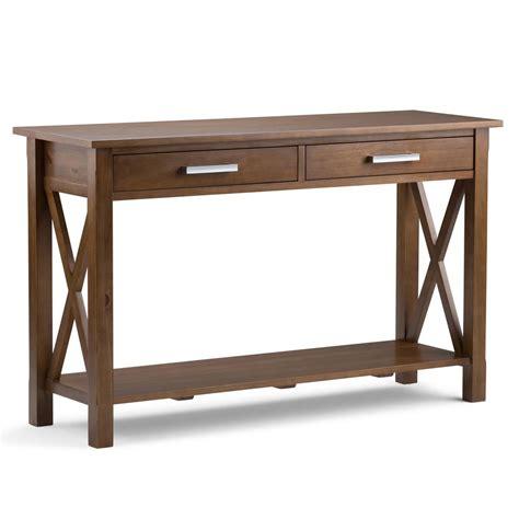 svn console simpli home kitchener medium saddle brown storage console